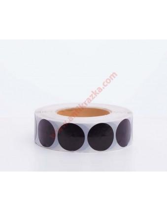 Этикетка черная круглая 40мм