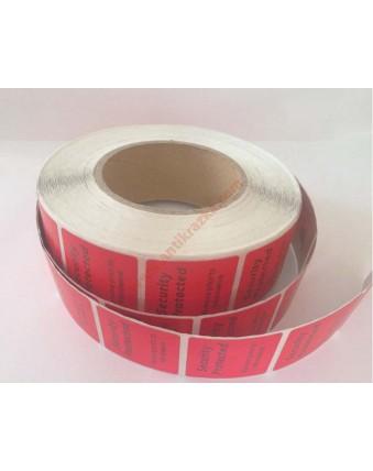 Этикетка для замороженных продуктов красная 4х4