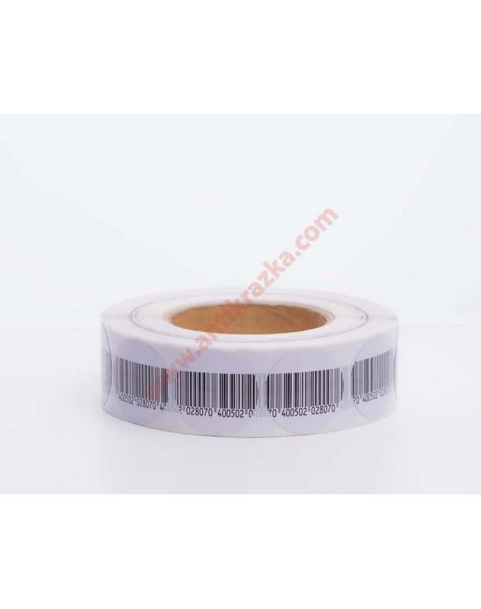 Этикетка штрих-код круглая 40мм