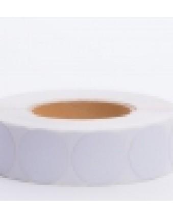 Этикетка белая круглая 40мм